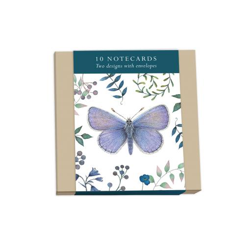 Vintage Garden Stationery - Square Notecard Pack - Butterflies