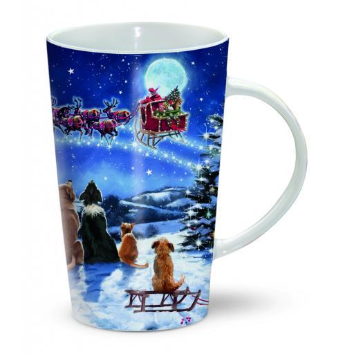 Chocolatte Mugs - Watching Santa