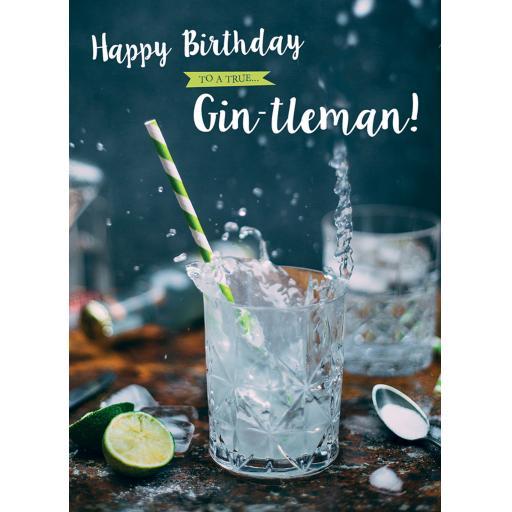 First Class Male Card - Gin-tlemen