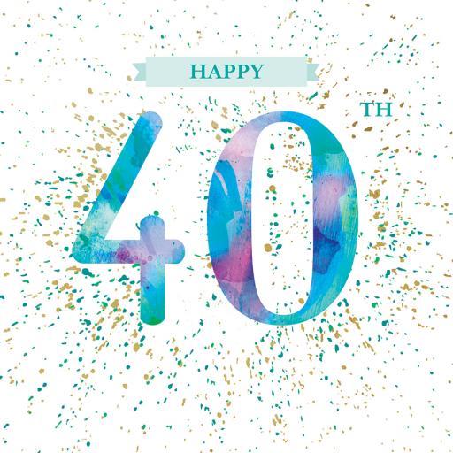 Age To Celebrate Card - 40