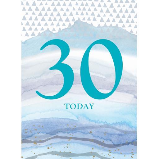 Age To Celebrate Card - 30 - Colour wash