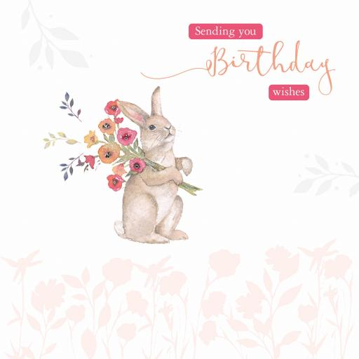Say It With Flowers - Bunny & Flowers