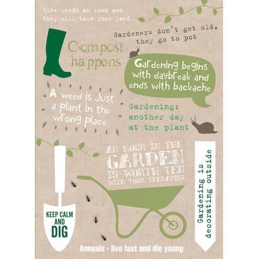 Just Saying Card - Gardening