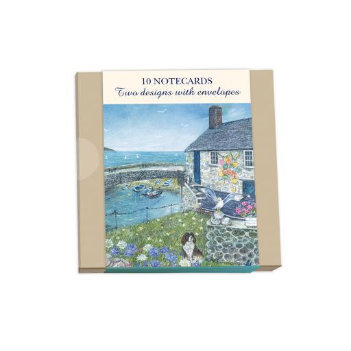 Notecard Wallets (10 Cards) - Seaside Cottages