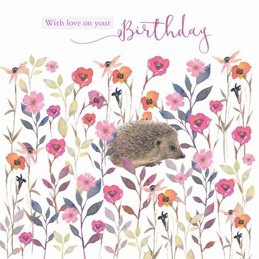 Say It With Flowers - Hedgehog Amongst Flowers
