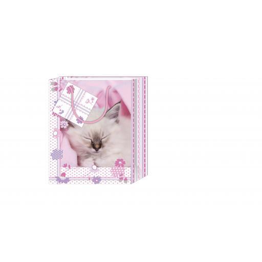 Gift Bag (Small) - White Kitten