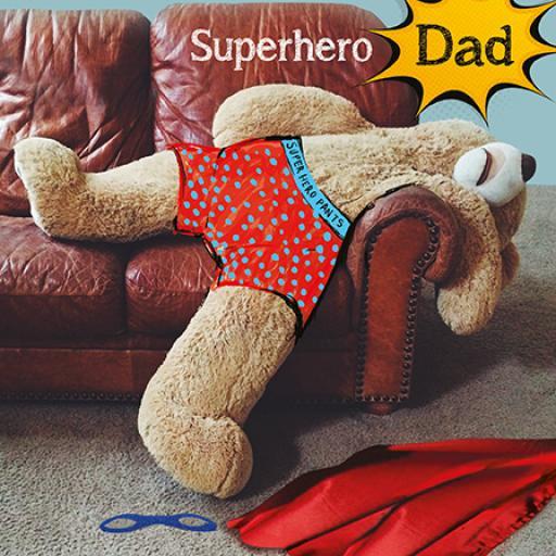Fathers Day Card - Superhero Dad