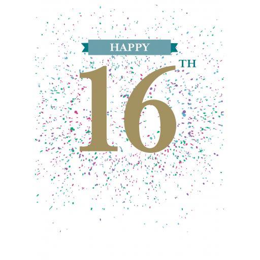 Age To Celebrate Card - 16