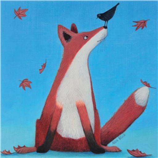 Ailsa Black Card Collection - Fox & Bird 'Foxy Tails'