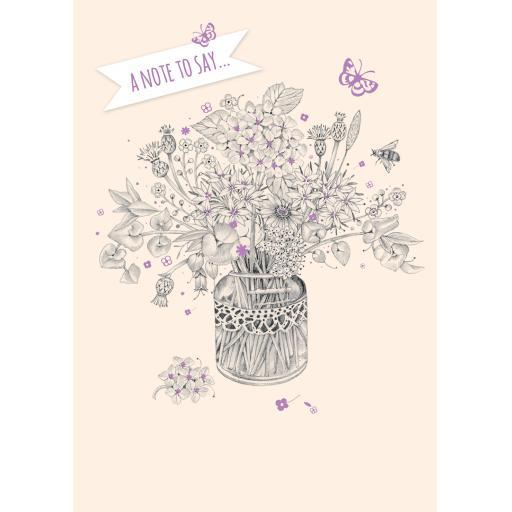 Notecard Pack - Floral Vase