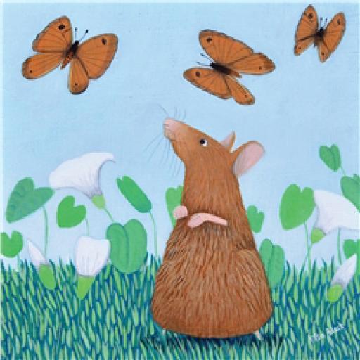 Ailsa Black Card Collection - Mouse & Butterflies 'Mousie Capers'
