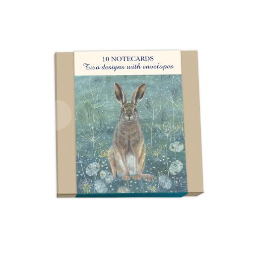 Notecard Wallets (10 Cards) - Enchanted Hare & Owl