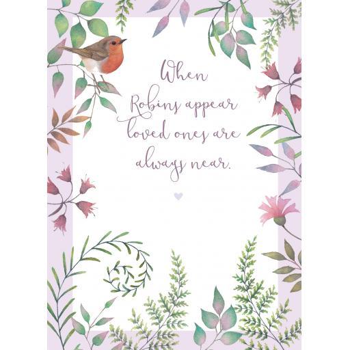 Sympathy Card - Robins Are Near