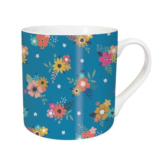 Tarka Mugs - Blue Floral