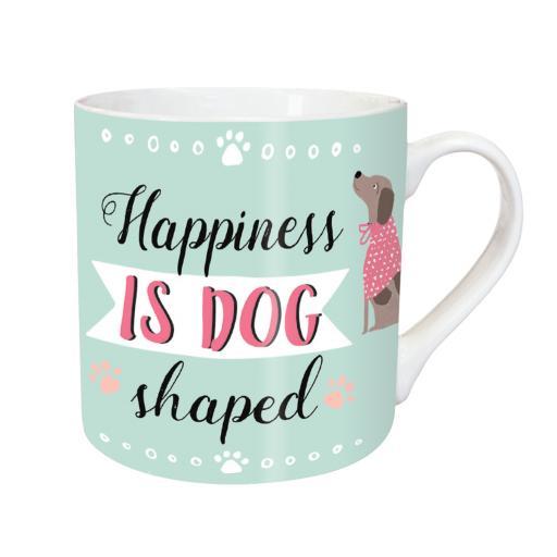 Tarka Mugs - Happiness Is Dog Shaped