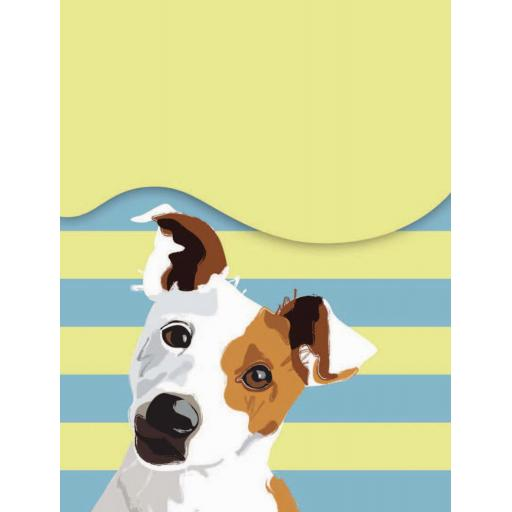 Waggy Tails Stationery - Jack Russell (A7) Mini Magnetic Notepad