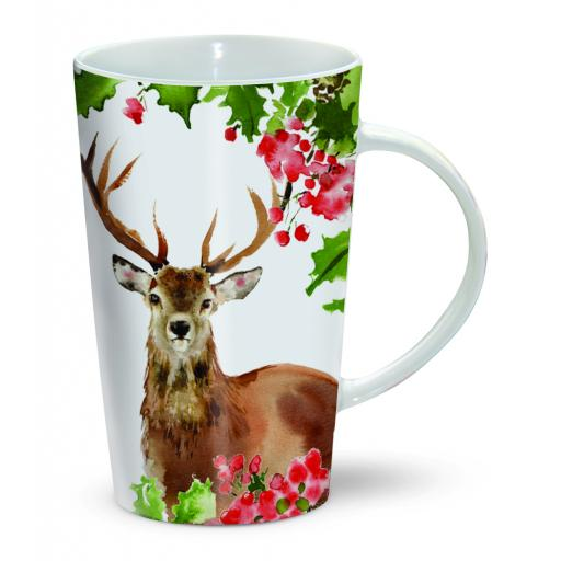Chocolatte Mugs - Winter Berries Stag