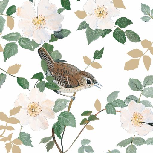 Pollyanna Pickering Countryside Collection Card - Bird & Flowers