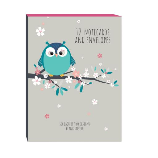 Little Owls Stationery - A6 Notecard Pack