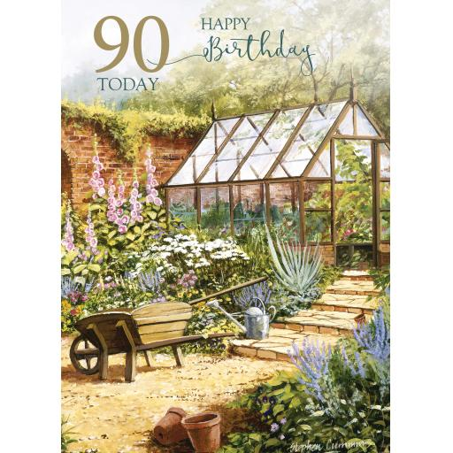 Age To Celebrate Card - 90 - Greenhouse