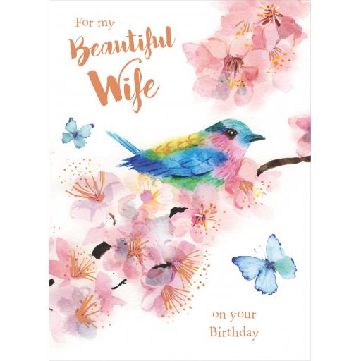 Family Circle Card - Pretty Bird (Wife)