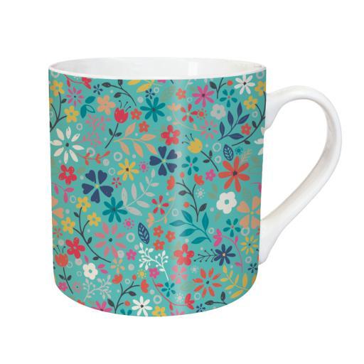 Tarka Mugs - Teal Floral