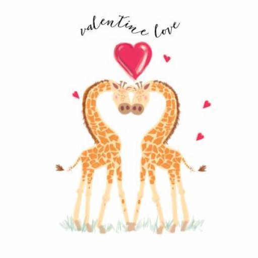 Valentines Day Card - Valentine Giraffes