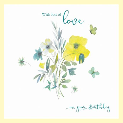 Say It With Flowers - Yellow & Teal Floral