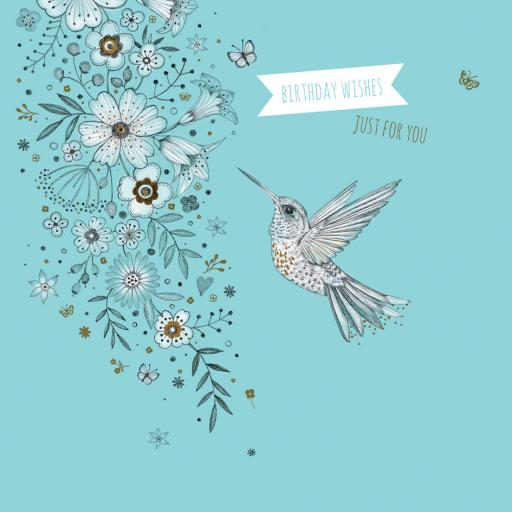 Feuille d'or Card Collection - Hummingbird
