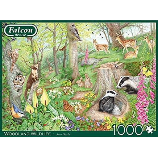 Woodland Wildlife 1000 Piece Jigsaw
