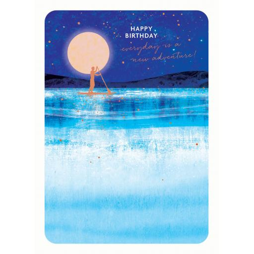 Midnight Wishes Card - Paddle Board