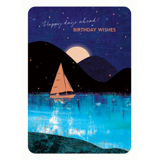 Midnight Wishes Card Collection - Sailboat