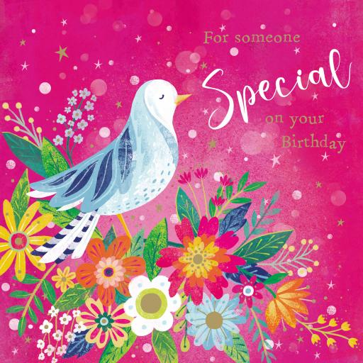 Flower Festival Card Collection - Bird Floral