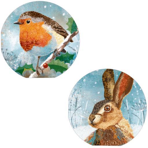 RSPB Luxury Christmas Card Pack - Christmas Creatures