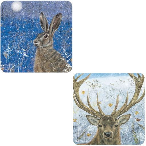 Luxury Christmas Card Pack - Snowy Stag