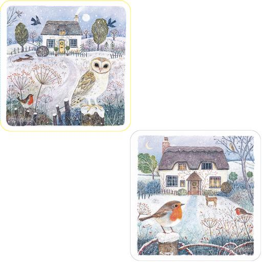 Luxury Christmas Card Pack - Christmas Cottage