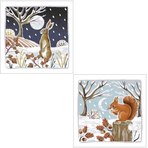 RSPB Luxury Christmas Card Pack - Woodland Wonder