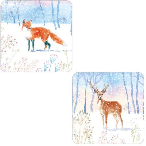 RSPB Luxury Christmas Card Pack - Snowy Scene