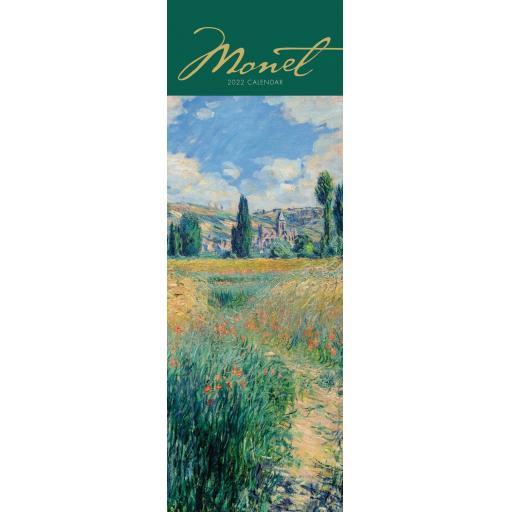Claude Monet Slim Calendar 2022