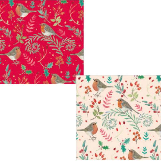 Christmas Wrap & Tags Bumper Pack - Wintery Robins