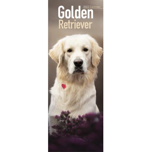 Golden Retriever Slim Calendar 2022