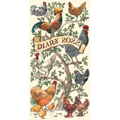 Emma Bridgewater Farmyard Birds Slim Diary 2022