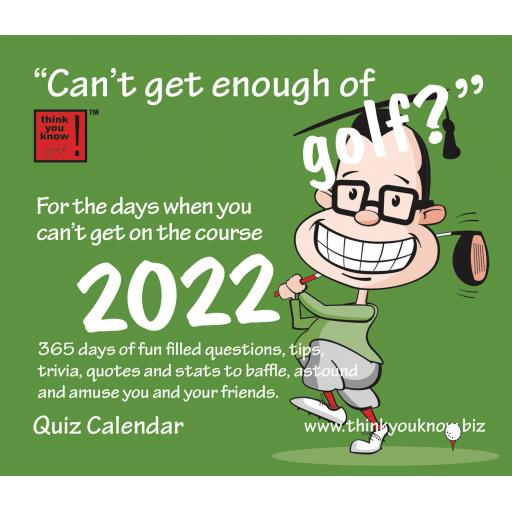 Cant Get Enough of Golf Boxed Calendar 2022