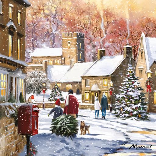 Charity Christmas Card Pack - Christmas Eve Walk