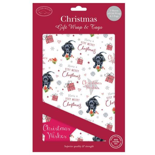 Christmas Wrap & Tags - Cute Christmas Pup