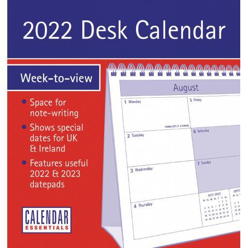 Essential WTV Easel Calendar 2022