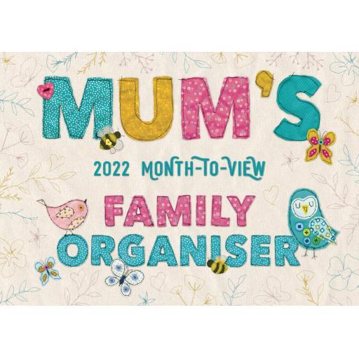 Mums Fabric & Buttons MTV A4 Planner 2022