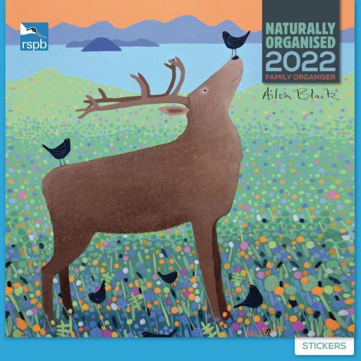 RSPB Ailsa Black Household Wall Planner 2022