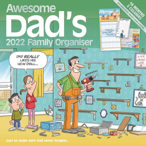 Awesome Dads Family Organiser Wall Planner 2022