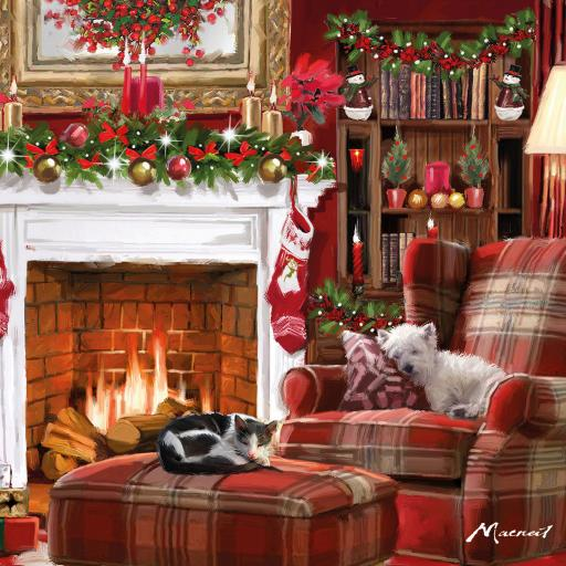 Charity Christmas Card Pack - Cosy Christmas